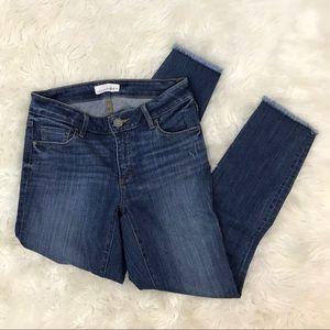 Loft Curvy Skinny Frayed Hem Ankle Jeans Women 25